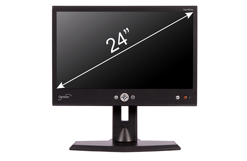 Optelec TwinView 24 inch HD split-screen monitor
